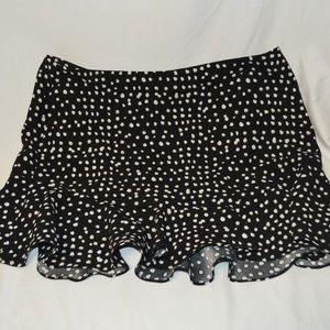 Stunning Banana Republic Black & White Frill Skirt